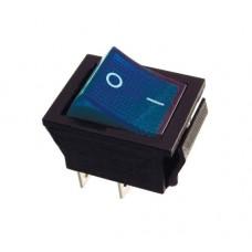 KCD2-202N BL/B 220V Переключатель 1 клав. синий с подсветкой