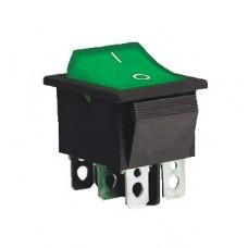 KCD2-202 G/B Переключатель 1 клав. зеленый