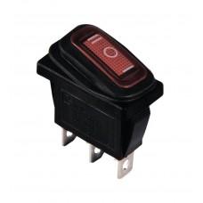 KCD3-103W R/B Переключатель 1 клав. перекидной красный