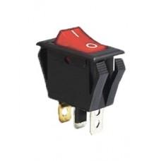 KCD3-2-101NV R/B 220V Переключатель 1 клав. красный с подсветкой