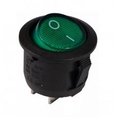 KCD1-5-101 G/B Переключатель 1 клав. круглый (зеленый)