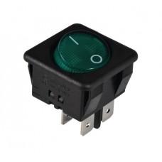 KCD2-10-201 G/B Переключатель 1 клав. (зеленая круглая клавиша)
