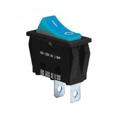 KCD3-101 BL/B Переключатель 1 клав. синий