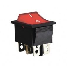 KCD2-202N R/B 220V Переключатель 1 клав. красный с подсветкой