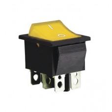 KCD2-202 Y/B Переключатель 1 клав. желтый