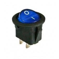 KCD1-5-102 BL/B Переключатель 1 клав. круглый (синий)