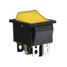 KCD2-202N Y/B 220V Переключатель 1 клав. желтый с подсветкой