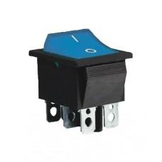 KCD2-202 BL/B Переключатель 1 клав. синий
