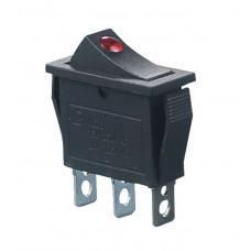 KCD3-101EN R/B 220V Переключатель 1 клав. красный с подсветкой
