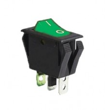 KCD3-2-101NV G/B 220V Переключатель 1 клав. зеленый с подсветкой