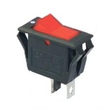 KCD3-2-101V R/B Переключатель 1 клав. красный с подсветкой