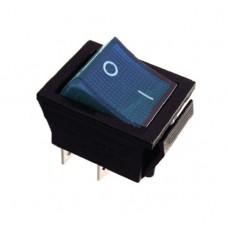 KCD2-201N BL/B 220V Переключатель 1 клав. синий с подсветкой