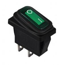 KCD3-101W GR/B Переключатель 1 клав. зеленый влагозащищенный