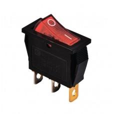 KCD3-101N R/B 220V Переключатель 1 клав. красный с подсветкой