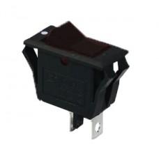 KCD3-2-101V B/B Переключатель 1 клав. черный с подсветкой