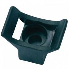 Суппорт с основанием, высотой 10 мм, для хомутов шириной до 9,4 мм с отверстие под винт 5 мм, цвет черный 21041301 ДКС
