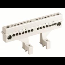 Усиленный клеммный блок (2х8 модулей) в комплекте с крепежом, 87308, ДКС