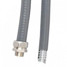 Металлорукав DN 20мм в гладкой EVA изоляции, Dвн 20,5 мм, Dнар 27,0, IP66, 50 м, цвет серый, 607E022, ДКС