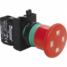 Аварийная кнопка «грибок» EMAS CP200EP с окном D=30мм c фиксацией и включением поворотом (1НЗ)