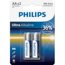Батарейка Philips LR6E2B/10 Ultra Alkaline AA BLI 2