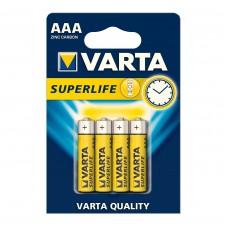 Батарейка солевая Varta Superlife AAA (вакуум 4шт)