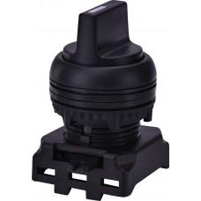 Двухпозиционный поворотный выключатель ETI 004771302 EGS2-N-C с фиксацией 0-1 45° (черный)