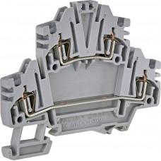 Двухуровневая пружинная клемма ETI 003903183 ЕSP2-HMD.1 (1.5мм² серая)