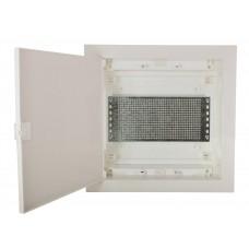 Мультимедийный щиток ETI 001101189 ECG14 MEDIA-PO (перфорированная панель и пластиковая белая дверь)