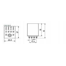 Реле РЭК78/4(MY4) с индикацией 3А  24В DC IEK