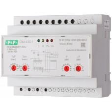 Ограничитель мощности F&F OM-630-1 3х(50-450)В 2х8А/5-50кВт (USB порт)