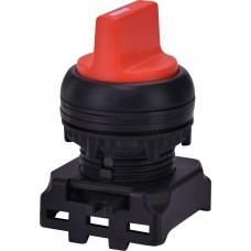 Двухпозиционный поворотный выключатель ETI 004771300 EGS2-N-R с фиксацией 0-1 45° (красный)