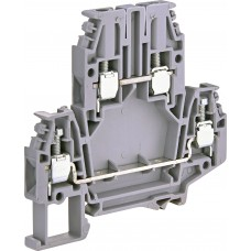 Двухуровневая винтовая клемма ETI 003903054 ЕSC2-DBC.4 (4мм² серая)
