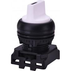Трехпозиционный поворотный переключатель ETI 004771343 EGS3-NN-W с фиксацией 1-0-2 45° (белый)