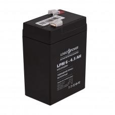 Аккумулятор LogicPower AGM LPM 6-4.5 AH 6В