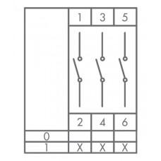 Кулачковый переключатель EMAS PSA025AK331S ON-OFF (0-1) 25А