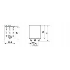 Реле РЭК78/3(MY3) с индикацией 5А  12В АC IEK