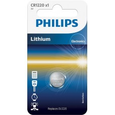 Литиевая батарейка Philips CR1220/00B Lithium CR 1220 BLI 1