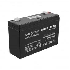 Аккумулятор LogicPower AGM LPM 6-14 AH 6В