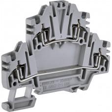 Двухуровневая пружинная клемма ETI 003903184 ЕSP2-HMD.2N (2.5мм² серая)