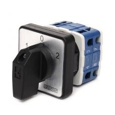 Кулачковый переключатель полюсов EMAS PSA010KD234S реверсивный (1-0-2) 10А