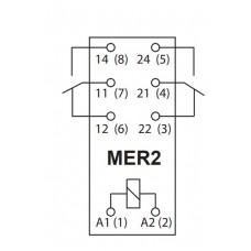 Миниатюрное электромеханическое реле ETI 002473030 MER2-005 DC 2p