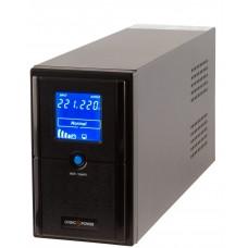 ИБП LogicPower LP4977 LPM-L625VA в металлическом корпусе с LCD дисплеем и 2 евророзетками (437Вт) AVR 7.5Ач 12В (черный)