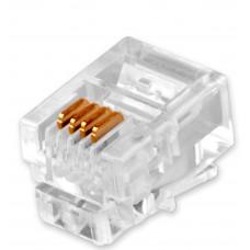 Коннектор LogicPower LP2772 RJ11-4P4С 100 (100шт)