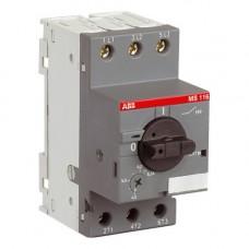 Автомат защиты двигателя ABB MS116 -1 (0,63А-1A)( 1SAM250000R1005)