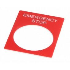Табличка маркировочная emERGEncY stOP красная прямоугольная, Аско [a0140010069]