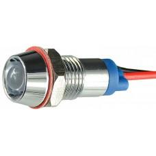 Сигнальна арматура AС22C-8 біла 24V AC/DC