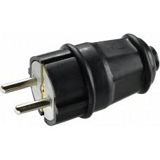 Вилка каучукова стандартна 2Р+PE 16А IP44