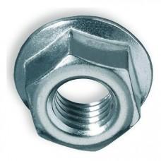 Гайка зубчатая с буртиком шестигранная DIN 6923, М12