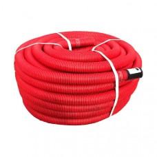Труба гибкая двустенная гофрированная (для подземной прокладки) KOPOFLEX BA 110, красная, бухта 50 м