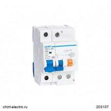 Дифференциальный автоматический выключатель nb1L 1P+N (36мм) C20*10kA, Chint [203108]